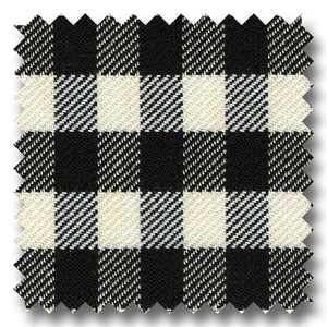 Twill Gingham Check Black and White - Custom Dress Shirt