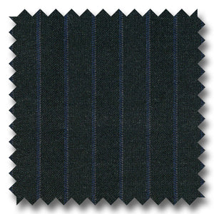 Charcoal Gray with Blue Stripes 100% Wool