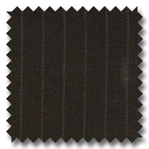 Brown with Gray Stripes 100% Wool