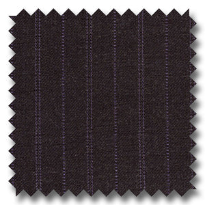 Gray with Purple Double Stripes 100% Wool