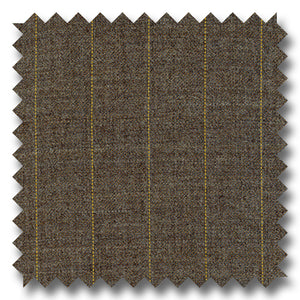 Brown with Tan Pinstripes 100% Wool