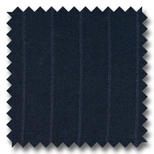 Navy Chalk Stripes 100% Wool