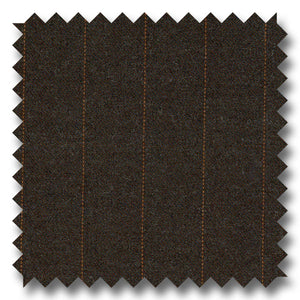 Brown with Orange Pinstripes 100% Wool