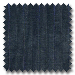 Navy with Blue Stripes 100% Wool