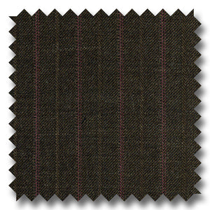 Chocolate Brown with Red Stripes 100% Wool