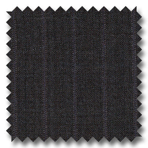 Charcoal Brown Stripes 100% Wool
