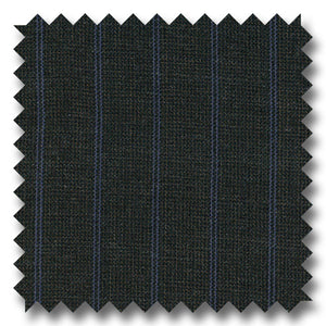 Gray with Blue Pinstripes 100% Wool