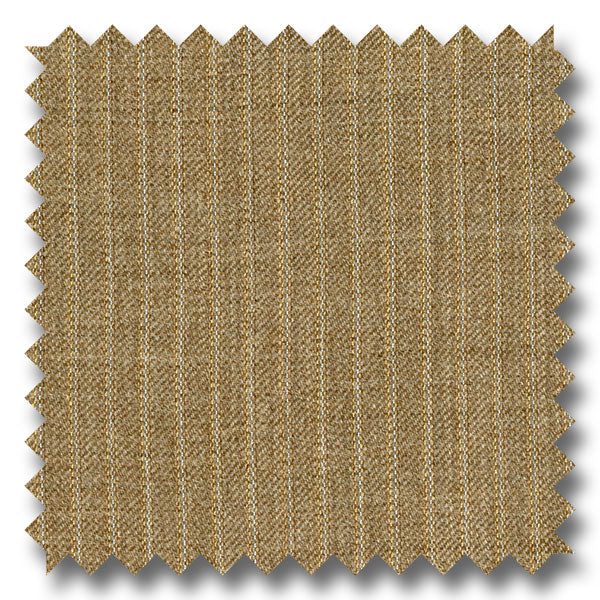 Tan with Blue & Cream Pinstripes 100% Wool