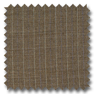 Light Brown with Blue Pinstripes 100% Wool