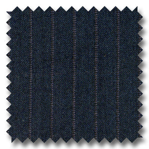 Navy Pinstripes 100% Wool