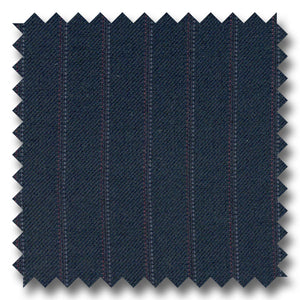 Navy with Maroon & Blue Pinstripes 100% Wool