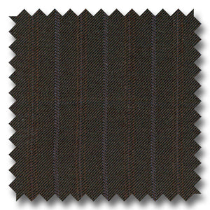 Chocolate Brown with Blue Stripes 100% Wool