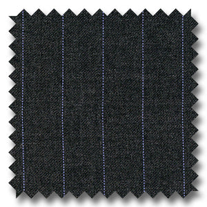 Gray with Blue Stripes 100% Wool