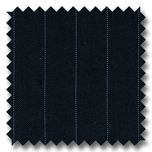 Navy Stripes 100% Wool