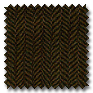 Dark Brown Herringbone 100% Wool