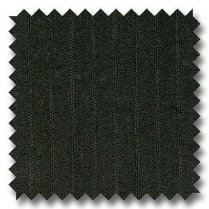 Black Herringbone with Shadow Stripes 100% Wool