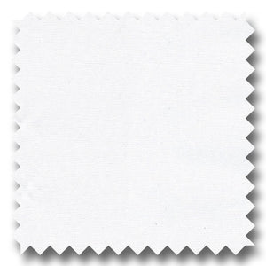 White Solid 100's 2Ply Broadcloth - Custom Dress Shirt