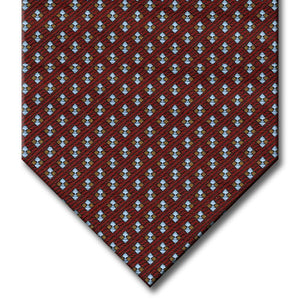 Burgundy with Brown and Gray Dot Pattern Tie