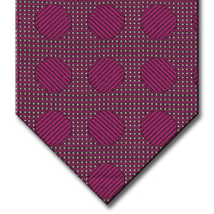 Dark Pink Dot Pattern Tie