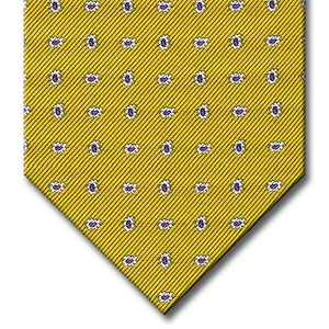 Gold with Purple and Silver Paisley Tie