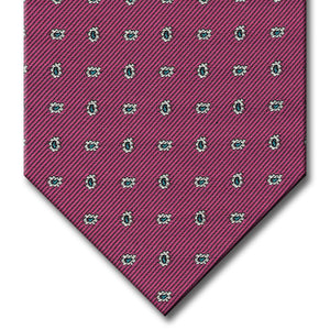 Pink with Aqua and Silver Paisley Tie