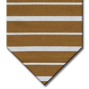 Gold with Silver Stripe Tie