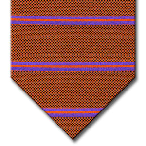 Orange with Purple Stripe Custom Tie