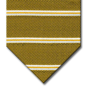 Gold with Silver Stripe Custom Tie