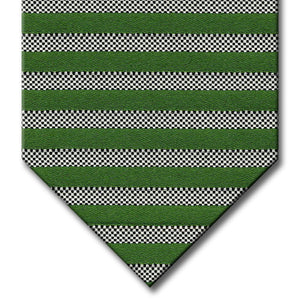 Green and Silver Stripe Custom Tie