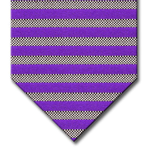 Purple and Silver Stripe Custom Tie