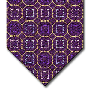 Purple and Gold with Lavender and Blue Medallion Tie