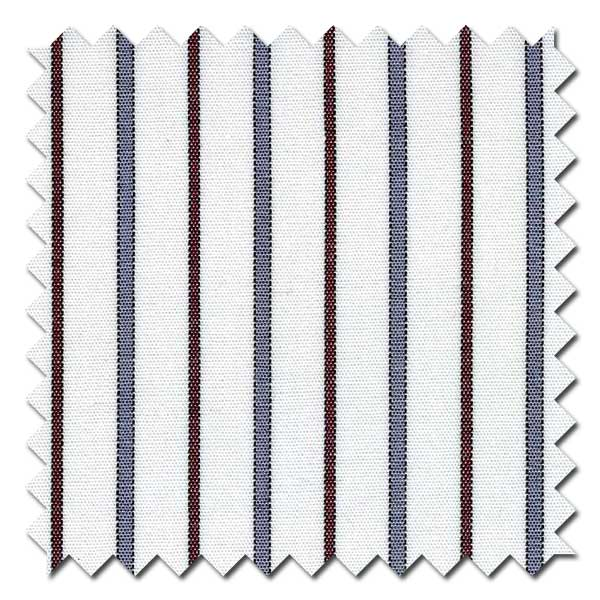 Burgundy and Gray Stripe Custom Dress Shirt