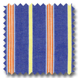 Orange, Blue and Yellow Stripe Poplin - Custom Dress Shirt