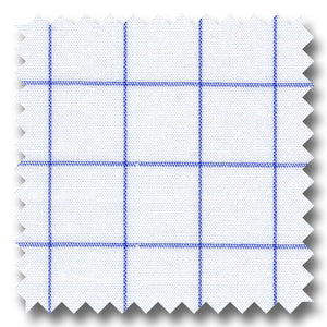 Windowpane Check Pop Blue - Custom Dress Shirt