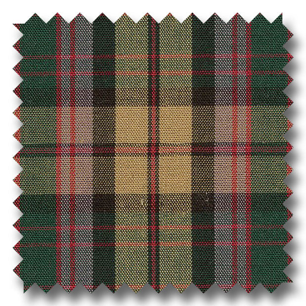 Khaki, Green, Red and Multiple Plaid Poplin - Custom Dress Shirt