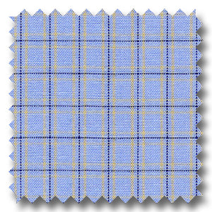 Blue and Multiple Graph Plaid Poplin - Custom Dress Shirt