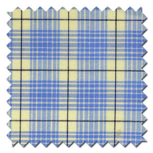 Light Blue Windowpane Check / Plaid Custom Dress Shirt