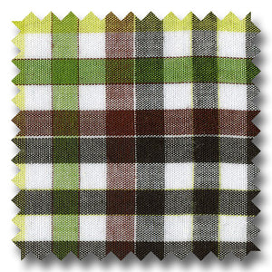 Green, Black and Multiple Plaid Poplin - Custom Dress Shirt