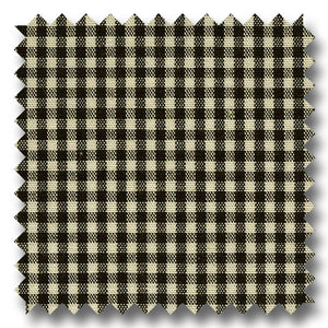 Gingham Check Pop Black and Cream - Custom Dress Shirt