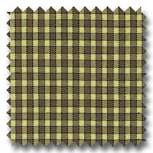 Khaki and Tan Gingham Check Poplin - Custom Dress Shirt