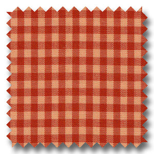 Red and Red Gingham Check Poplin - Custom Dress Shirt
