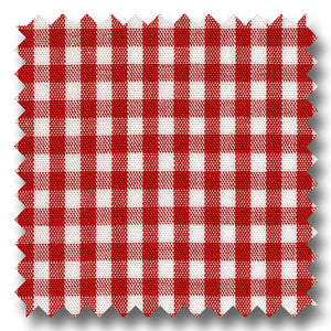 Gingham Check Pop Red - Custom Dress Shirt