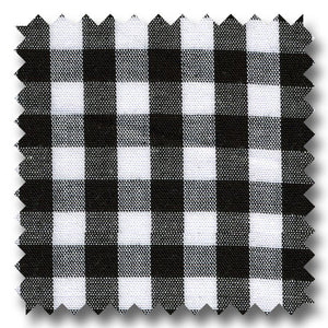 Gingham Check Poplin Black - Custom Dress Shirt
