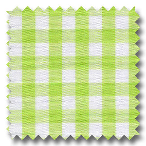 Gingham Check Poplin Lime - Custom Dress Shirt