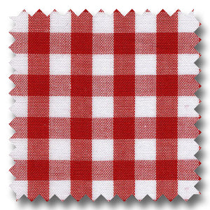 Gingham Check Poplin Red - Custom Dress Shirt