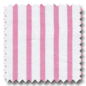 Stripe Poplin Pink and White - Custom Dress Shirt