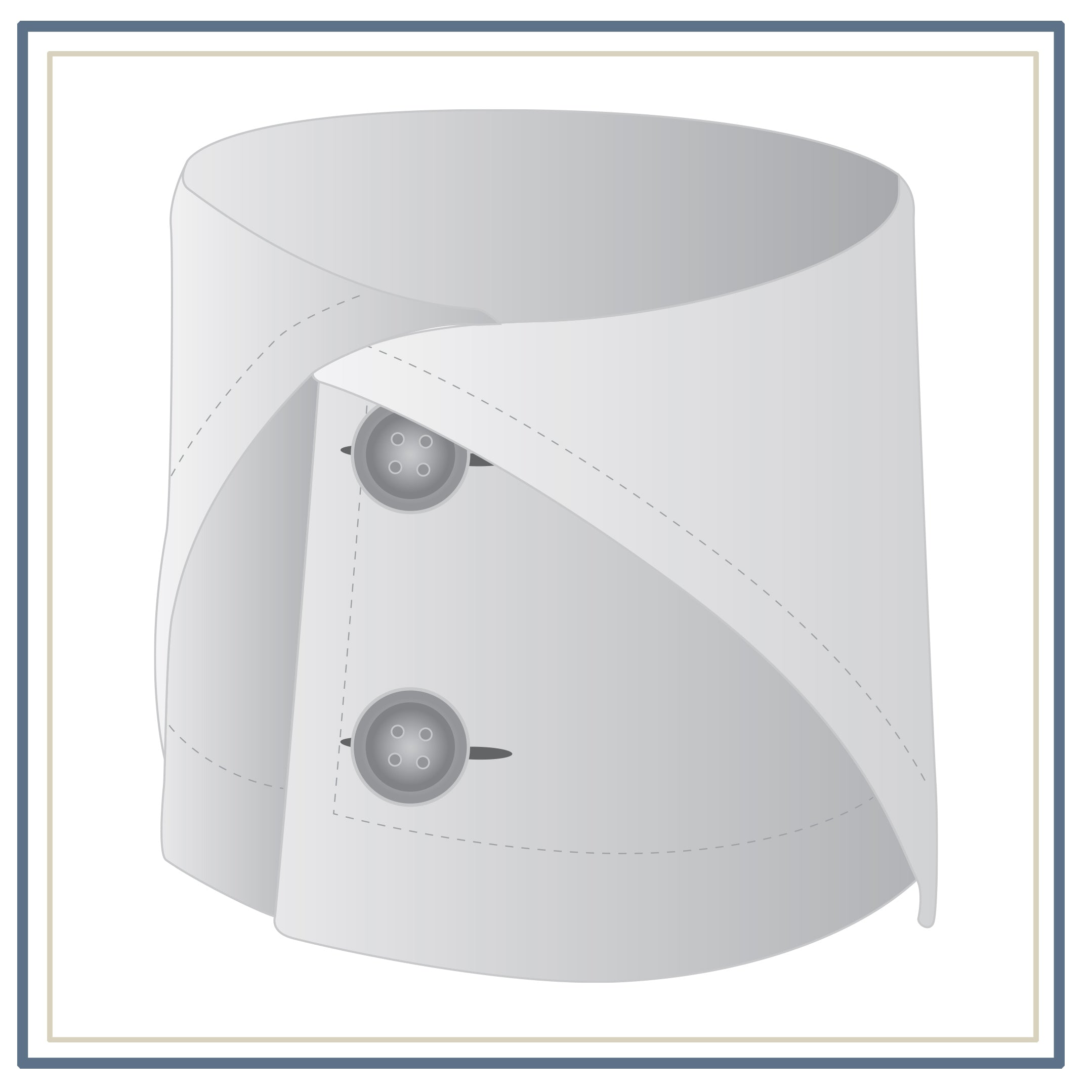 Double Button Folded Cuff