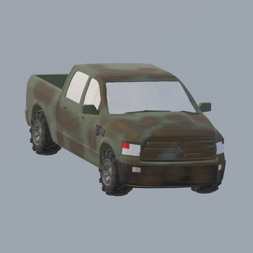DODGE RAM 1500 US Army - TPA-Agency | 3d-modelling