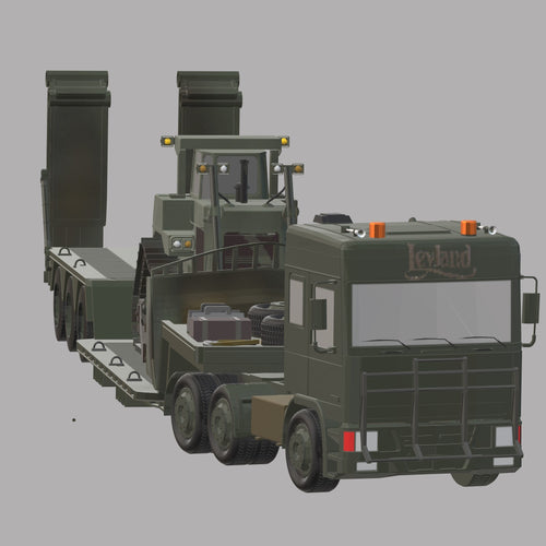 LAYLAND DAF 95 British Army Sattelzug Maschine ohne Caterpillar-Planierraupe - TPA-Agency | 3d-modelling