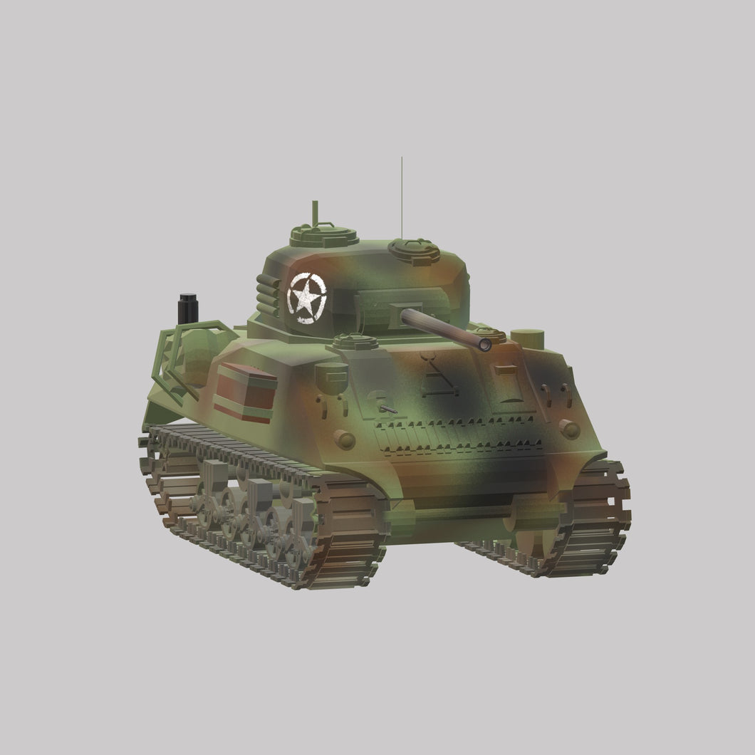M4 Sherman medium - TPA-Agency | 3d-modelling